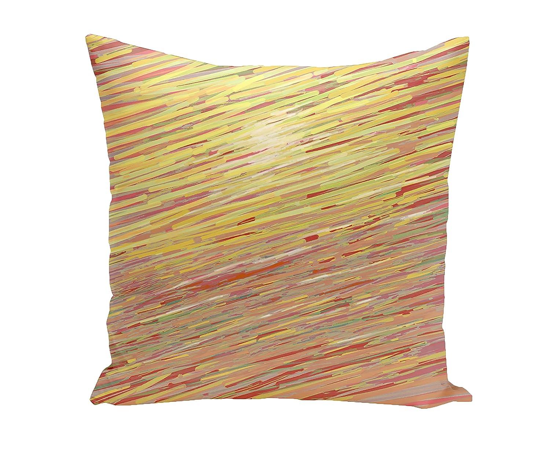 E by design Decorative Pillow Red Yellow Orange