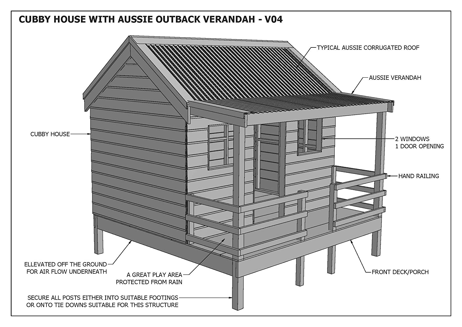 Amazoncom CUBBY HOUSE PLAY HOUSE Great Aussie Outback - Cubby house