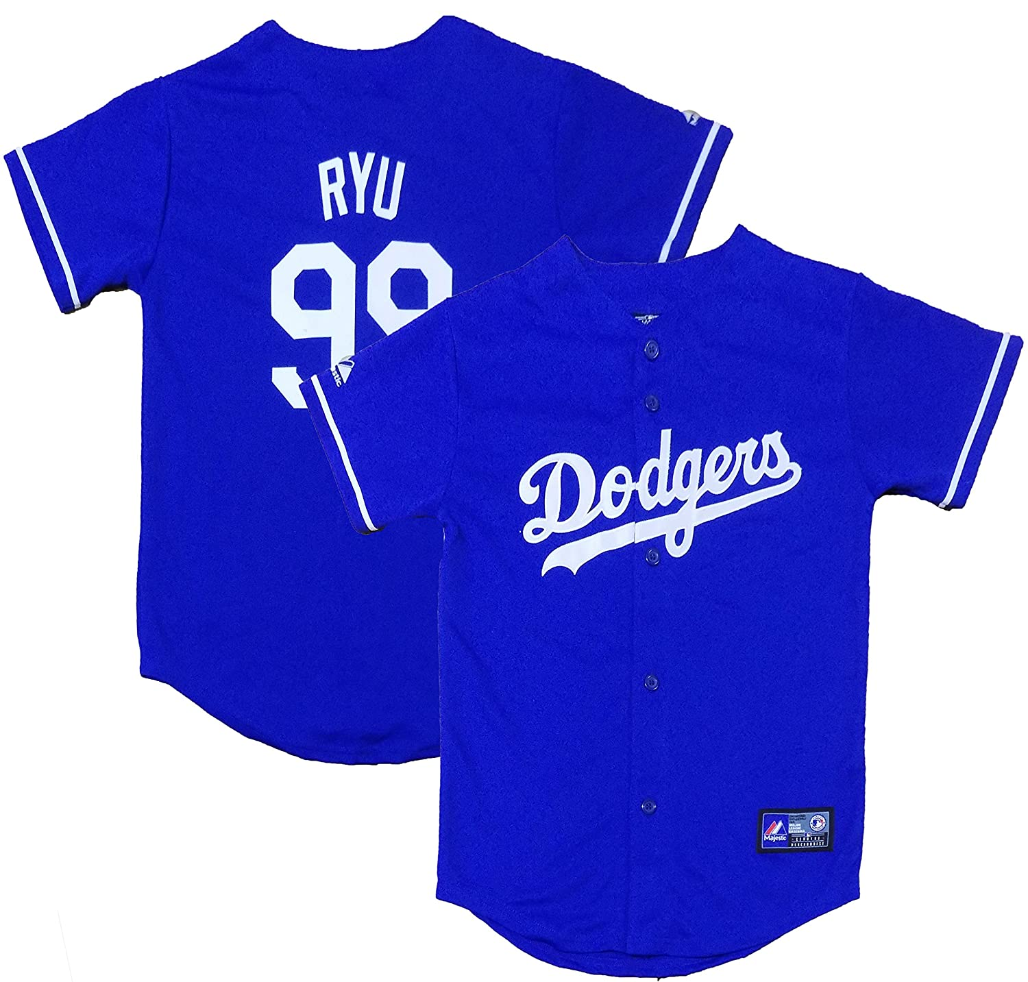 official photos 50555 d0636 OuterStuff Hyun-Jin Ryu Los Angeles Dodgers Blue Youth ...