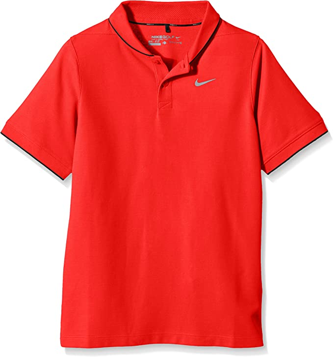 Nike Momentum - Polo para niño, Color Rojo/Negro, Talla S: Amazon ...
