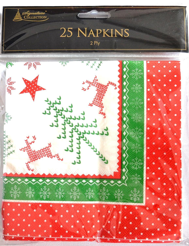Pack 25 Reindeer napkins Anker International