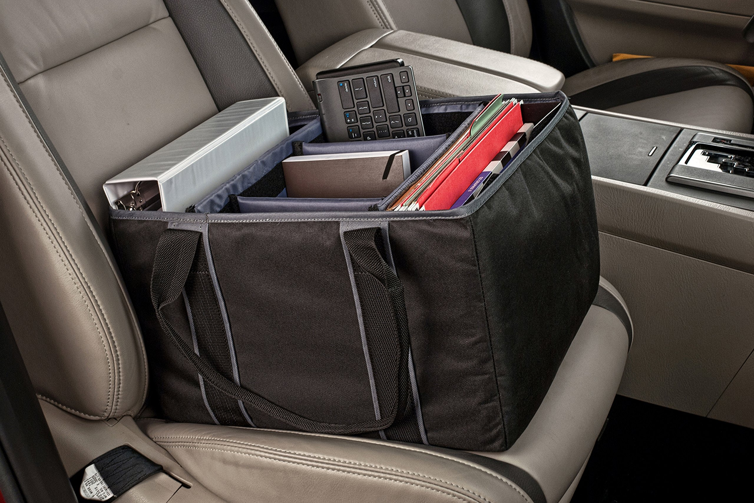 AutoExec AETote-08 Black/Grey File Tote with One Cooler and One Hanging File Holder by AutoExec (Image #12)
