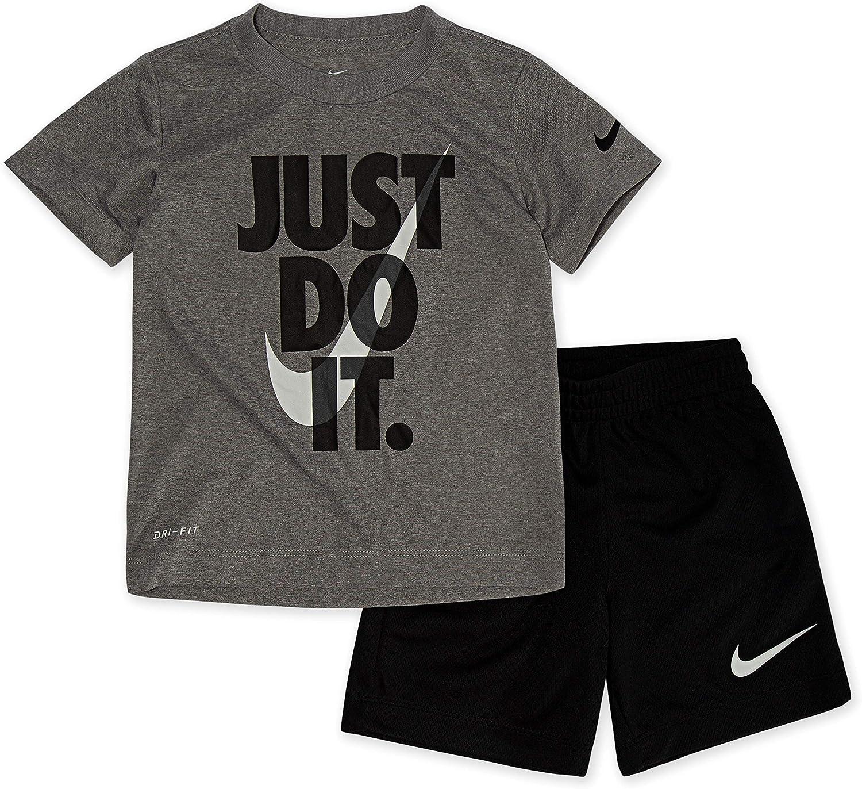Nike Boy`s Dri-Fit T-Shirt & Shorts 2 Piece Set
