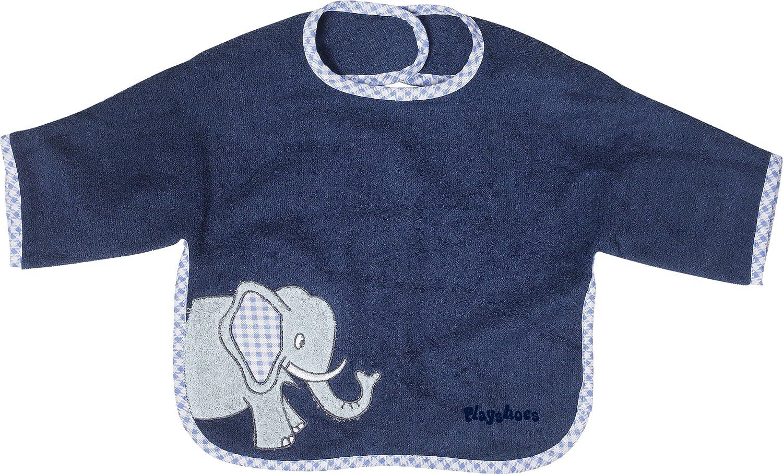 circa 39 x 30 cm blau Motiv Elefant Playshoes 507461 Aermel-Laetzchen aus Webfrottier Mae