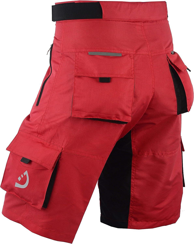 Deckra Mens Cycling Shorts MTB Mountain Biking Bike Padded Liner Shorts