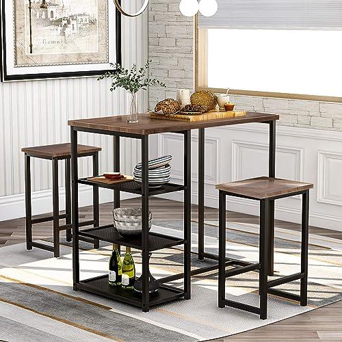 GLCHQ 3 Piece Pub Table Set