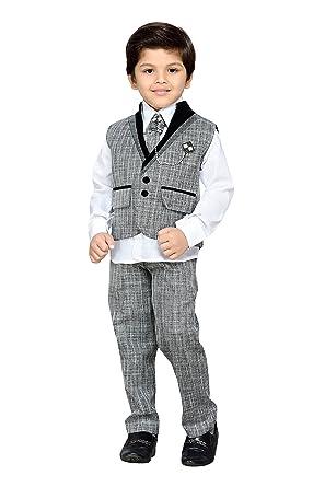 3d203f0af1 AJ DEZINES Kid's Khadi Suit Set (Grey)