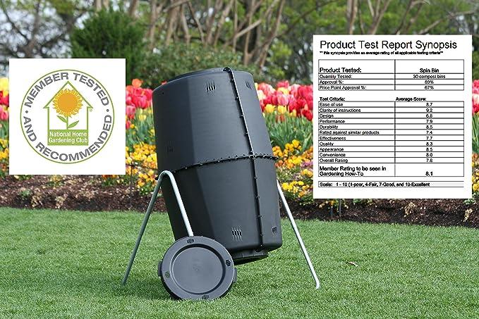 Amazon.com: Spin Bin barril para compost de gran capacidad ...