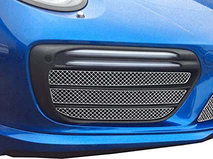 Zunsport Compatible Porsche Carrera 991.2 Turbo and Turbo S - Outer Grille Set - Silver Finish