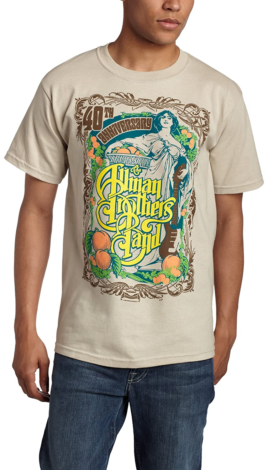 FEA - Camiseta - Hombre de color Gris de talla X-Large - Allman Brothers 40th Anniversary Angel Tan (Camiseta)-xl: Amazon.es: Ropa y accesorios