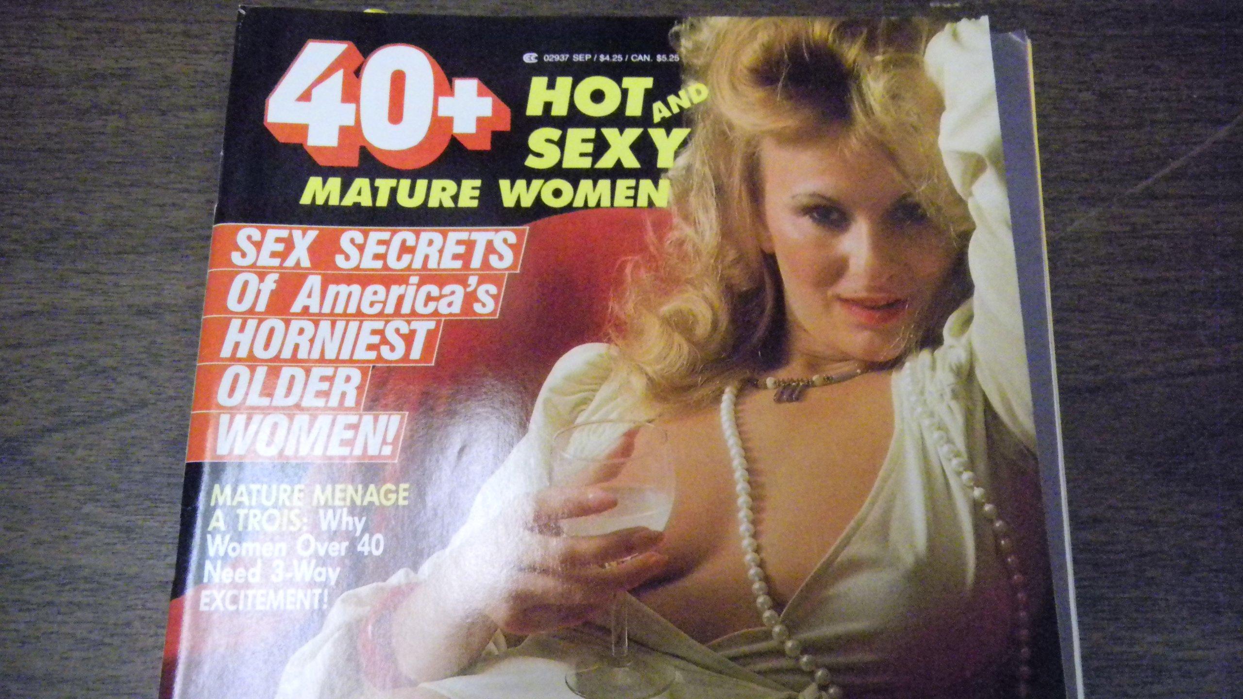 40 + Busty Adult Magazine September 1988 Mature Menage A Trois Unbound –  1988