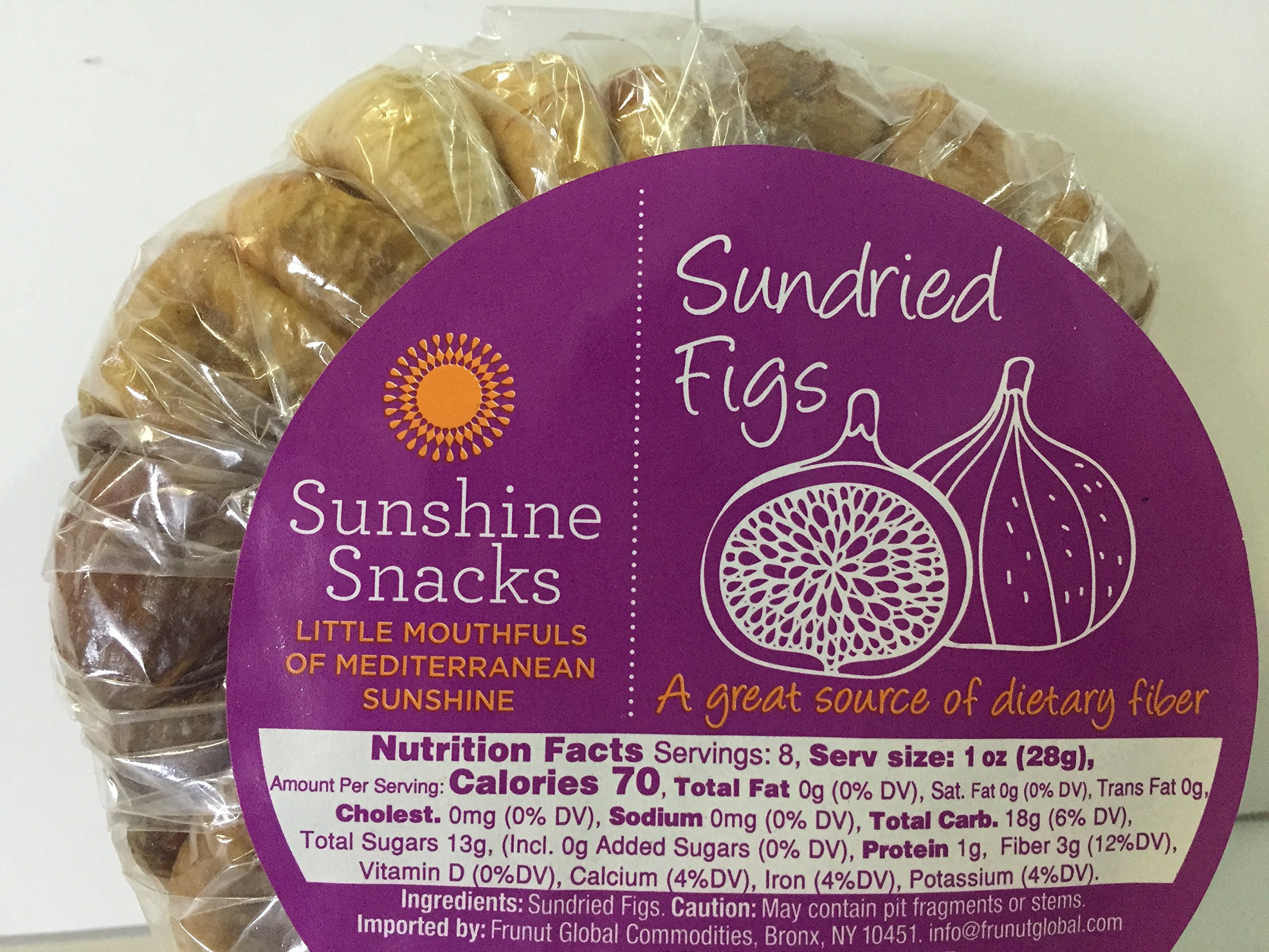 Sunshine Snacks Dried Figs, (Sundried Figs) Net Wt. 15 oz