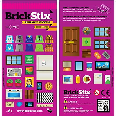 BrickStix Home Reusable Stickers: Toys & Games [5Bkhe0800316]