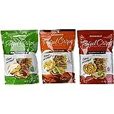 Snack Factory Deli Style Pretzel Crisps 3 Flavor Variety Bundle: (1) Everything, (1) Garlic Parmesan, and (1) Buffalo Wing, 7