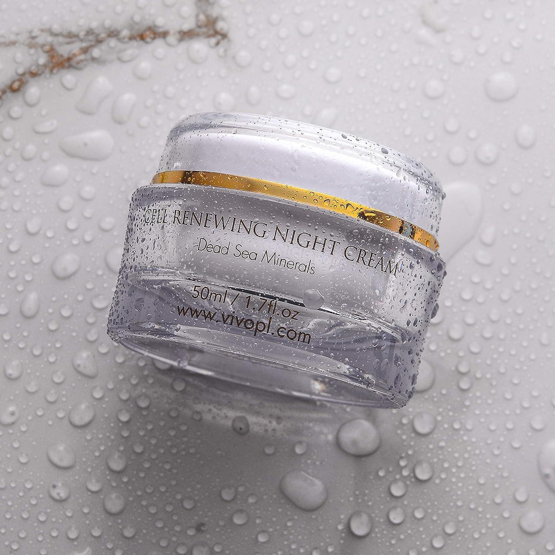 Vivo Per Lei Cell Renewal Night Cream, Light Moisturizer for Non-Greasy Freshness, 1.7 Fl. Oz, Pack of 6