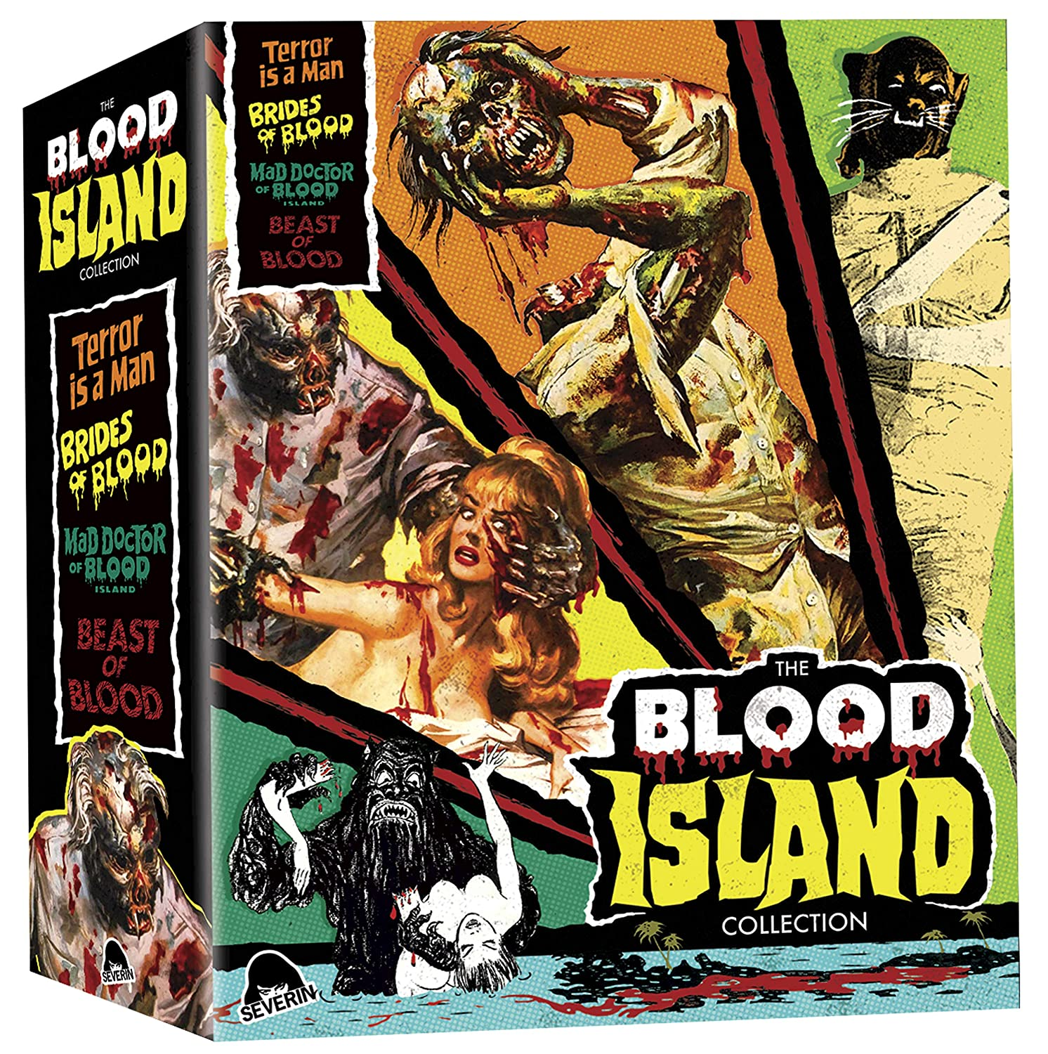 The Blood Island Collection [Blu-ray] Francis Lederer Kent Taylor John Ashley Angelique Pettyjohn