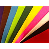 Special Assorted Felt Pack - 10 Sheets in Assorted Colours by Bombay Collections