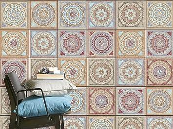 mosaik-fliesen sticker - orient-muster | fliesen-aufkleber folie ... - Mosaik Fliesen Küche