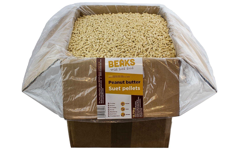 Peanut butter suet feed pellets for wild birds 25kg FREE P&P Starmer Ltd 5060312962347