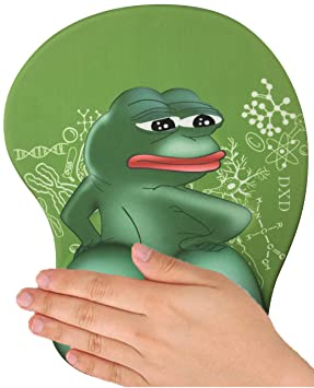3d Anime Frog Mouse Pad Mat With Gel Wrist Rest Support For Pain Relief Gaming Mousepad With Memory Foam Non Slip Rest Pad For Typist Office