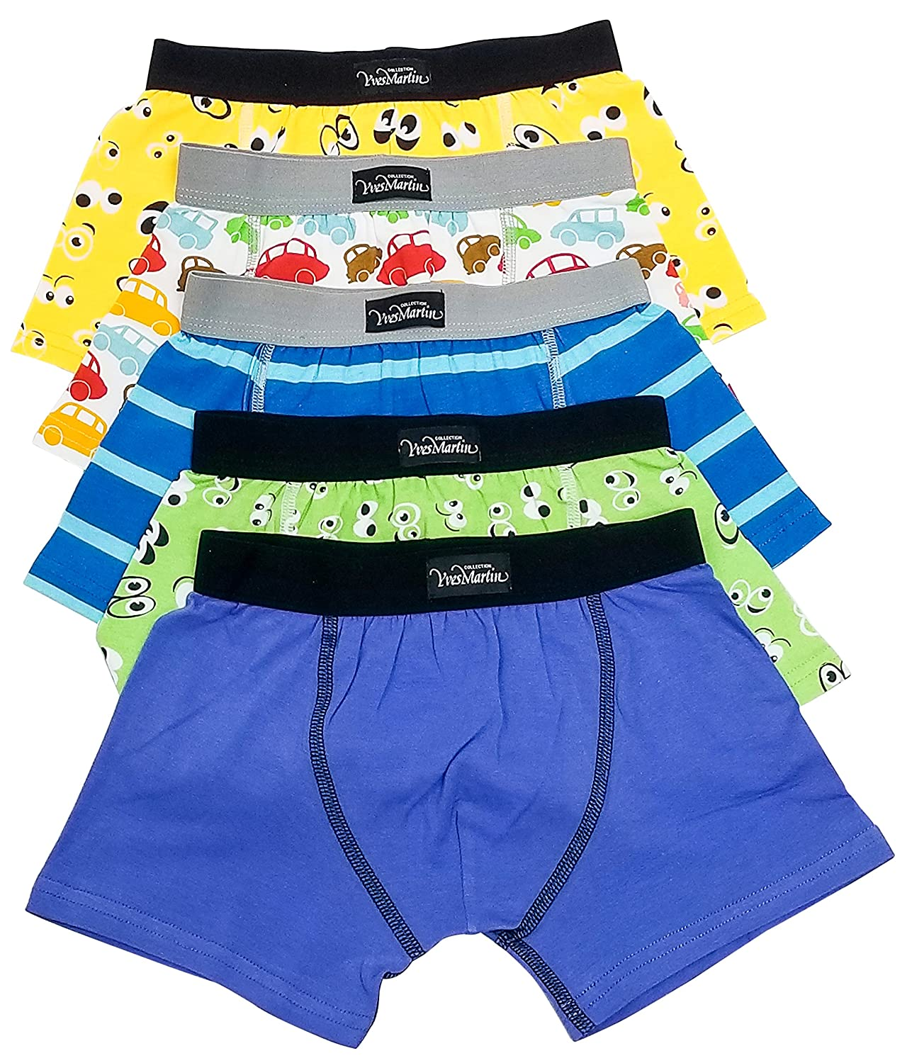 COLLECTION YVES MARTIN | Little Boys' Boxer Briefs (kids) - Fun Pack (4567/5) Yves Martin Underwear Inc.