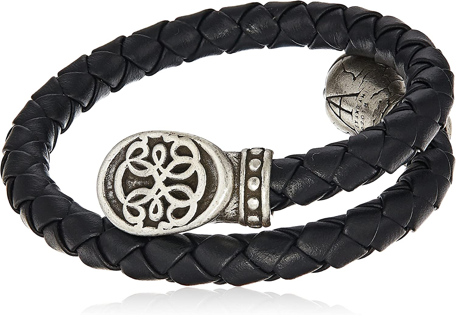 Alex and Ani Path of Life Braided Leather Wrap Bracelet