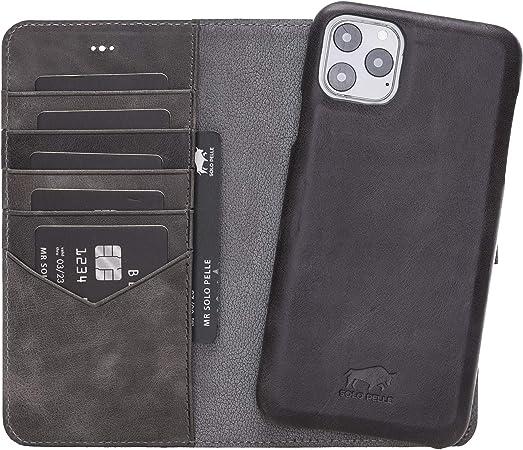 Solo Pelle Lederhülle Kompatibel Für Iphone 11 Pro Max Elektronik