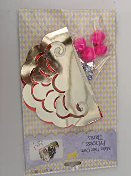 Make Your Own PRINCESS Crown /& Sceptre Photo Frame Tiara Kit Party Activity Set