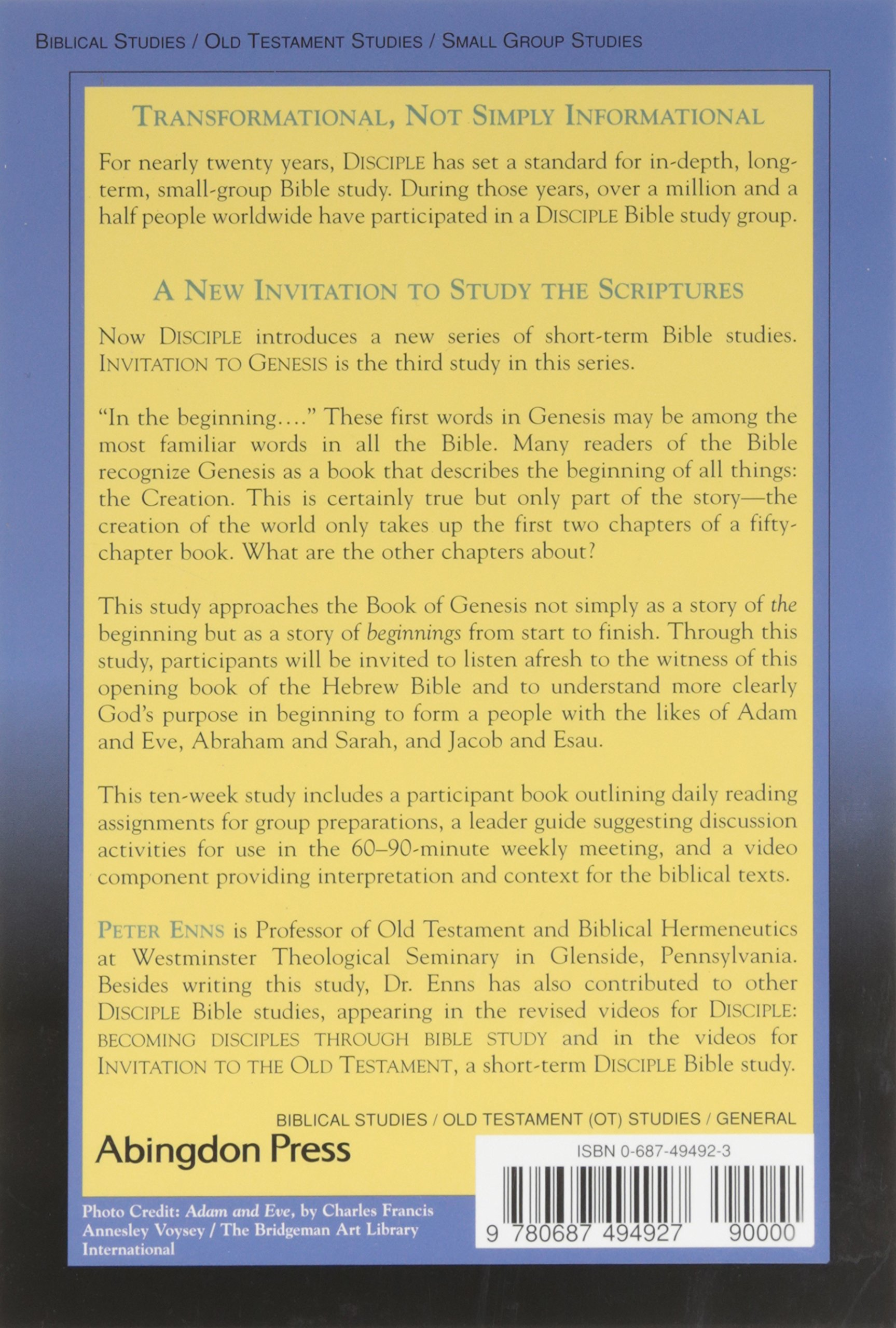 invitation to genesis participant book a short term disciple bible