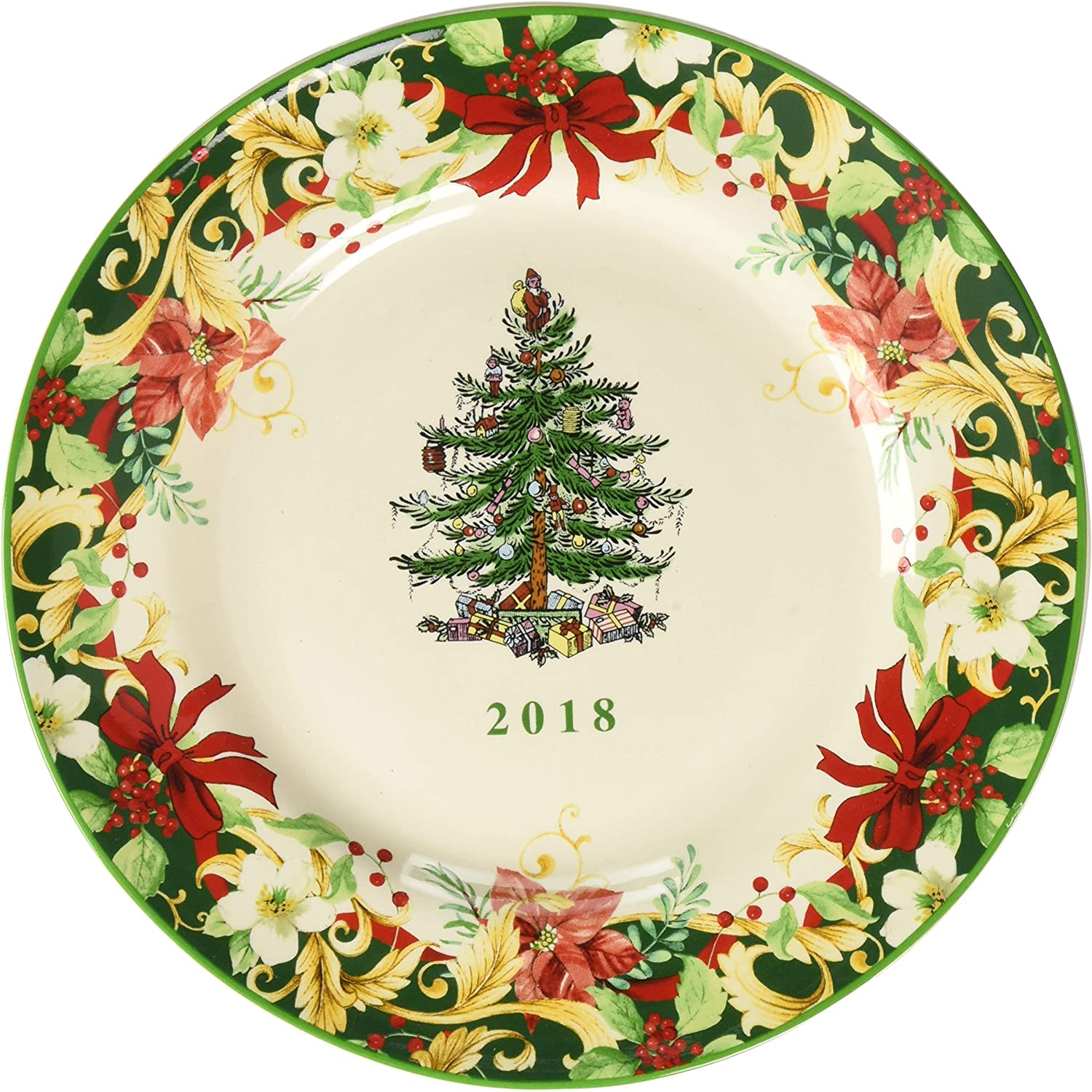 Spode Christmas-Tree 2020 Annual Edition Christmas-Plate; White, Green And Red Amazon.com: Spode 1667228 Annual Collector Plate, Green: Home
