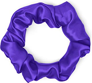 product image for Satin Scrunchies 100% Silk Premium Quality Ponytail Holders Choose From Many Colors Scrunchie King Made in the USA