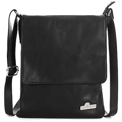 94b602fde LiaTalia Womens Cross-Body Bag - 100% Real Italian Soft Leather Shoulder  Handbag Purse