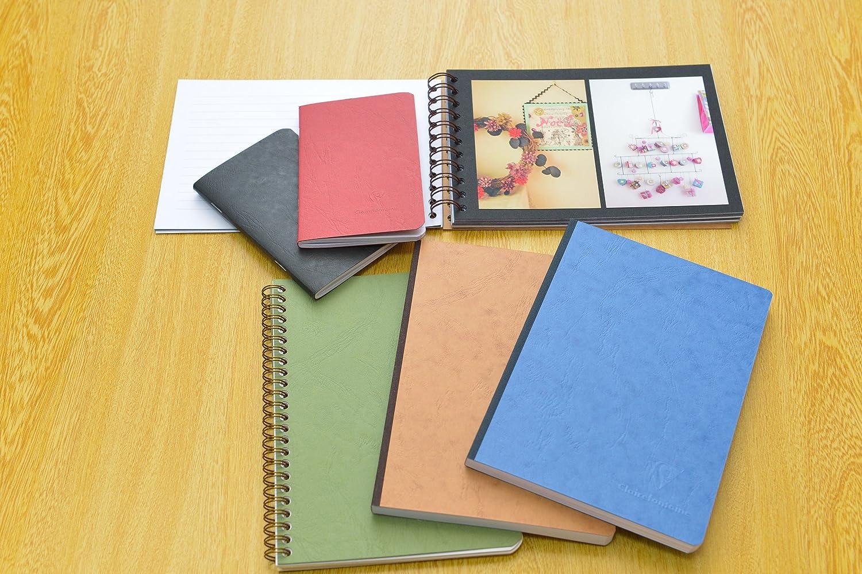 17 x 12 x 0.9 cm Clairefontaine 786164C Quaderno Americano 3 Tasche Blu