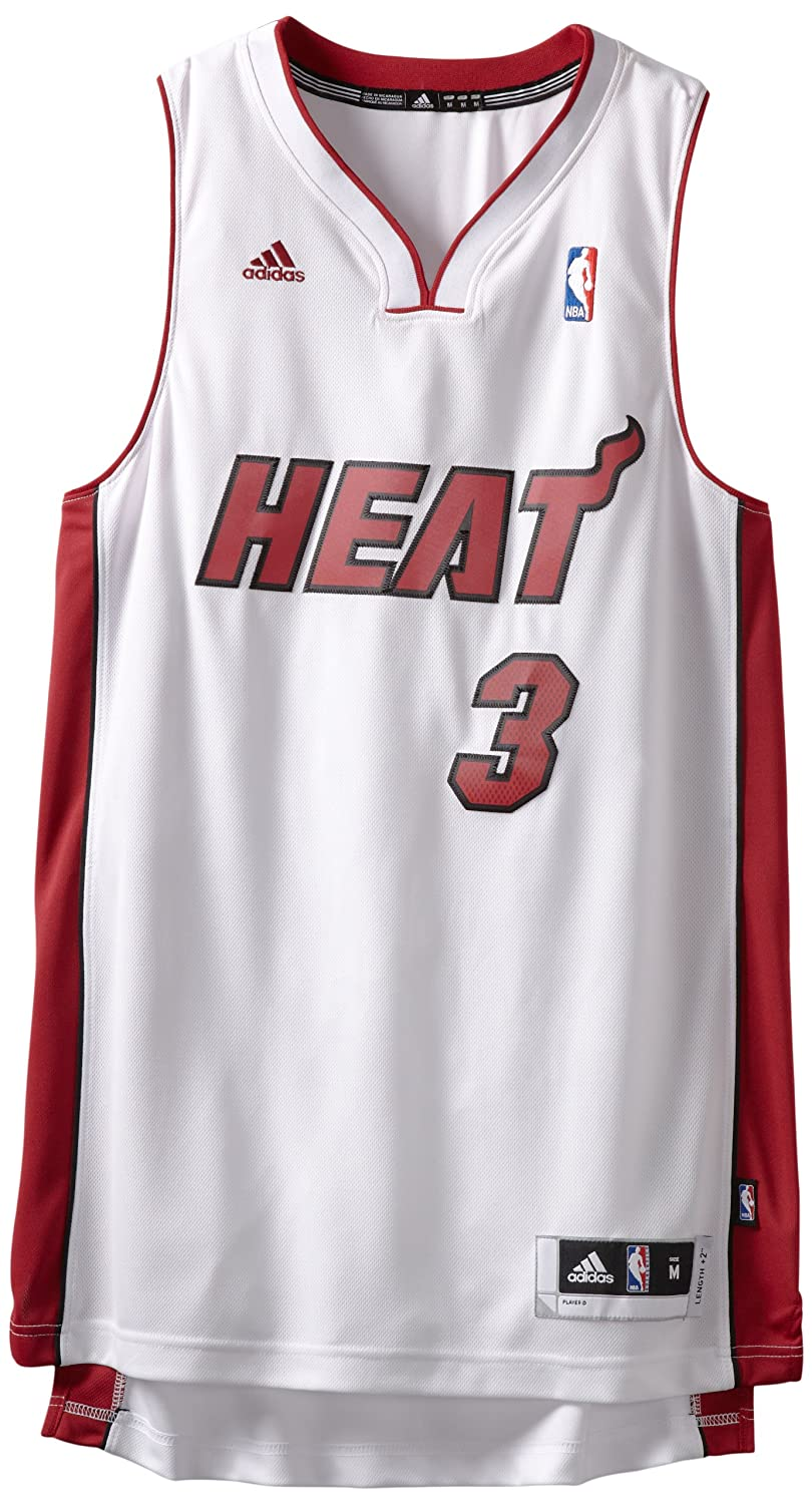 Adidas Miami Heat de la NBA Dwayne Wade, Alero de los Jersey, Color Blanco, NBA, Dwayne Wade, Hombre, Color Miami Heat, tamaño Large: Amazon.es: Deportes y ...