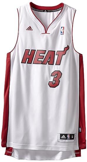 Adidas Miami Heat de la NBA Dwayne Wade, Alero de los Jersey, Color Blanco
