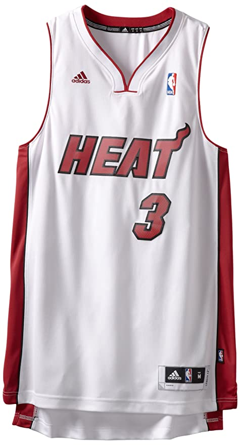 huge selection of 30e7f 7a901 Adidas Miami Heat Dwyane Wade New Swingman Home Jersey