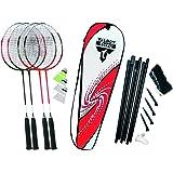 Talbot Torro Attacker Plus Set de badminton avec filet 449515 Rouge/Blanc