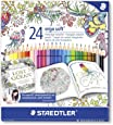 Staedtler 157 C24JB Ergosoft Colouring Pencils with Johanna Basford Packaging - Assorted, Pack of 24