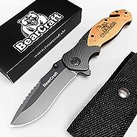 BearCraft Cuchillo Plegable en diseño de Carbono