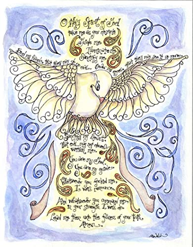 Image Unavailable. Image not available for. Color: Holy Spirit Prayer 8x10 - Catholic Confirmation Gift