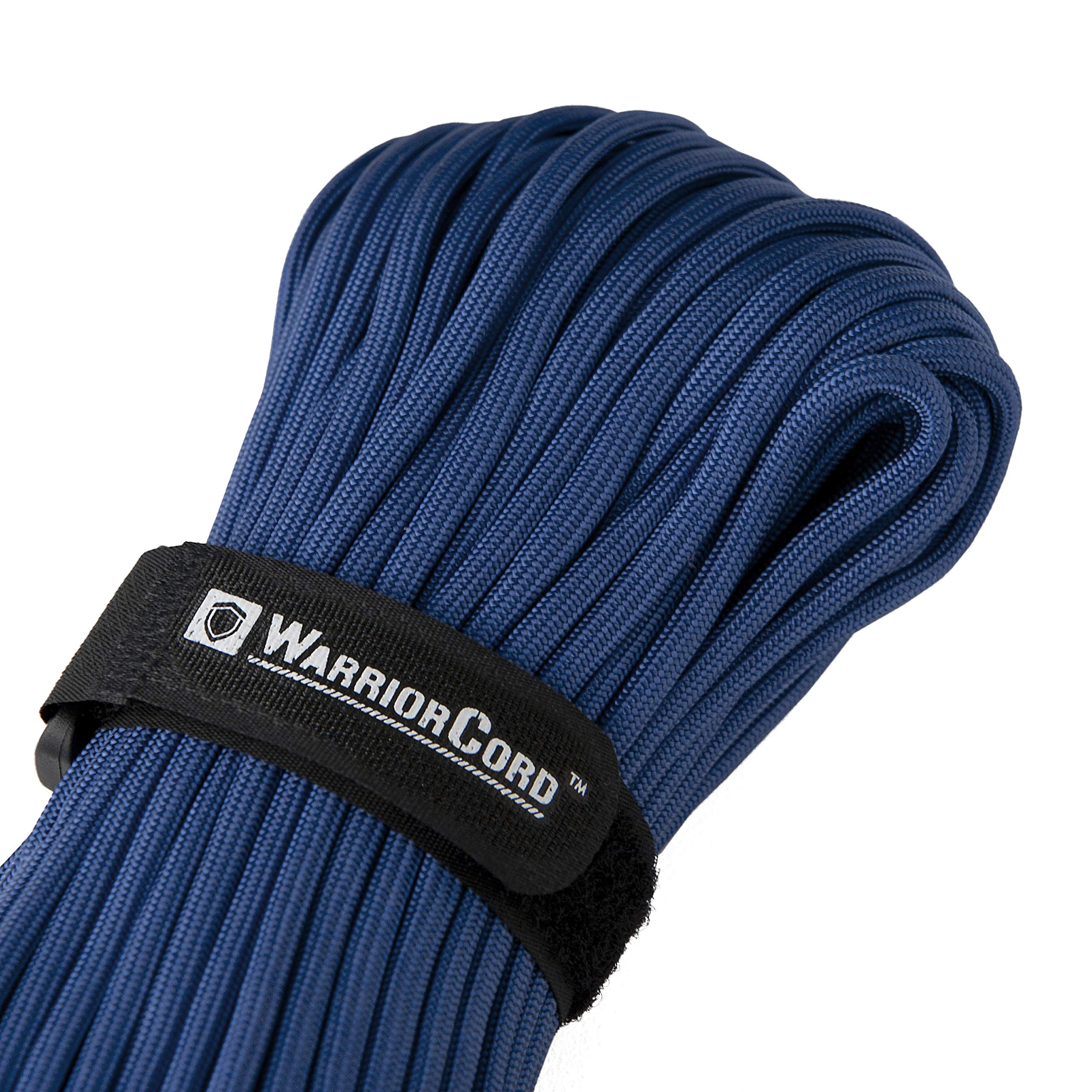 TITAN WarriorCord | ROYAL BLUE | 103 CONTINUOUS FEET | Exceeds Authentic MIL-C-5040, Type III 550 Paracord Standards. 7 Strand, 5/32'' (4mm) Diameter, Military Parachute Cord.