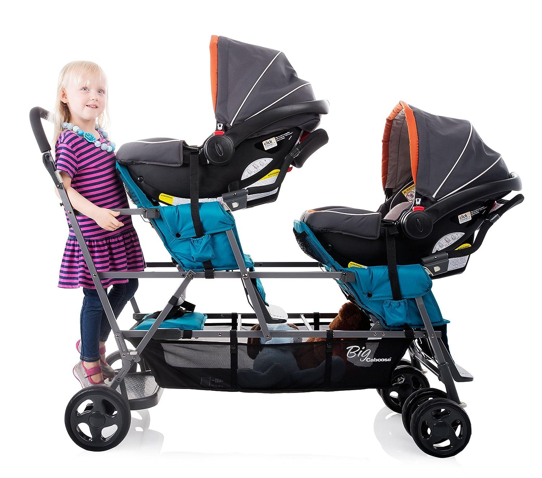Amazon Joovy Big Caboose Graphite Stand Triple Stroller Black Baby