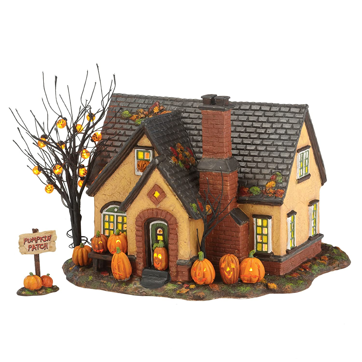 Department 56 Snow Village Halloween Pumpkin House Lit Building, 6.69 inch (4030757)