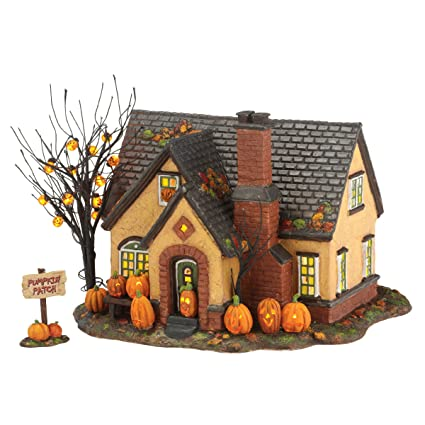 department 56 snow village halloween pumpkin house lit building 669 inch 4030757