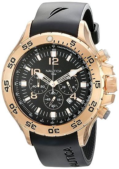 6a5cbb4f84fd Nautica N18523G Hombres Relojes  Amazon.es  Relojes