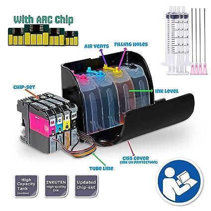 INKUTEN TM Prime CISS con termostato para Brother LC 201 lc201 MFC ...
