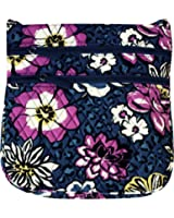 Vera Bradley Triple Zip Hipster Cross-body Bag with Updated Solid Interiors