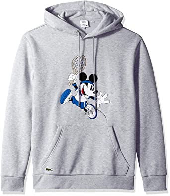 fa370b92e Lacoste Men s Long Sleeve French Terry Mickey Hoodie at Amazon Men s ...