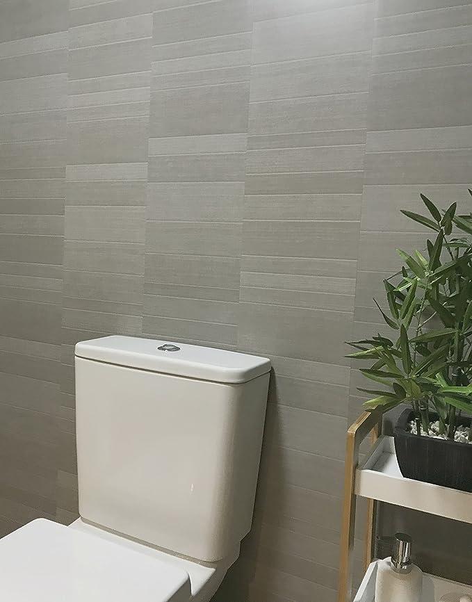 DBS Graphite Grey Modern Tile Effect Bathroom Panels Shower Wall PVC Cladding 14