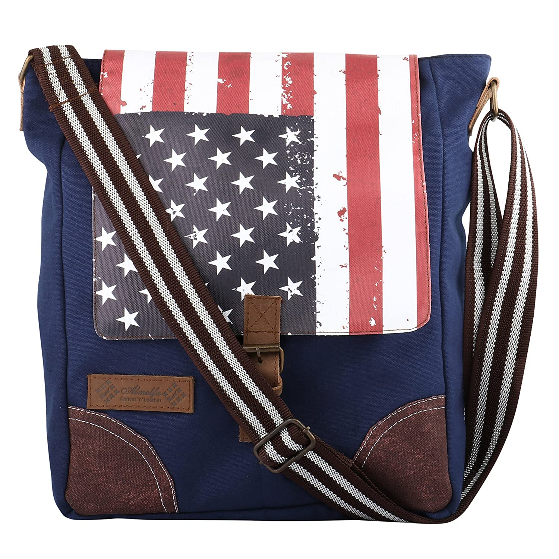Unisex Messenger Bag Satchel Shoulder Crossbody Sling Working Bookbag Fits 13 Inch Laptop Ipad for Men and Women
